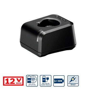 Cargador Bosch GAL 12V-20 12V BIVOLT